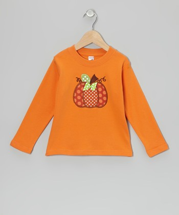 Orange Pumpkin Tee - Toddler