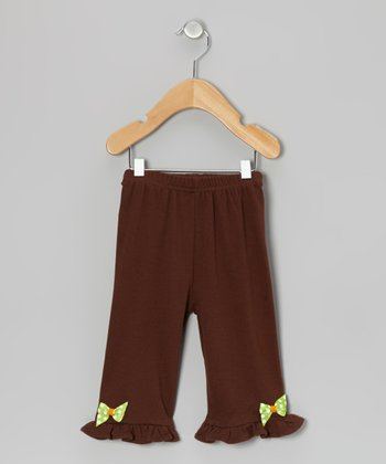 Brown Pumpkin Bow Pants - Infant & Toddler