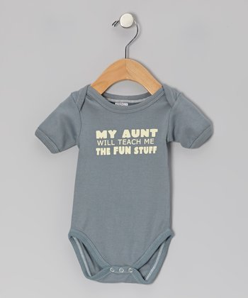 Gray 'My Aunt' Organic Bodysuit - Infant