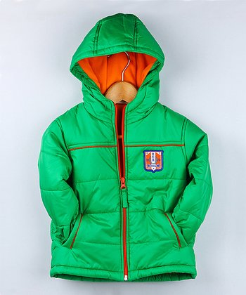 Green Quilted Coat - Infant & Toddler