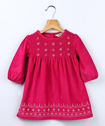 Mulberry Corduroy Smocked Dress - Infant & Toddler