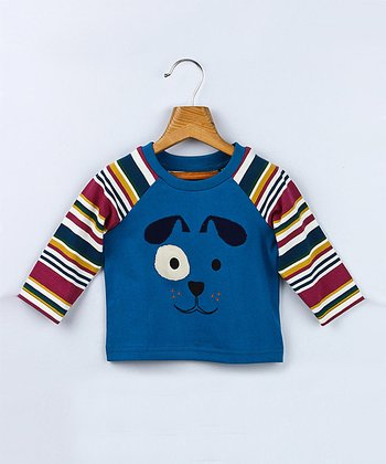 Blue Dog Raglan Tee - Infant & Toddler