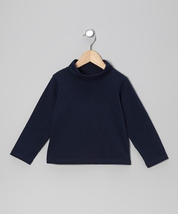 Navy Turtleneck - Toddler & Girls