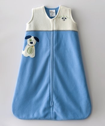 Blue Puppy Color Block SleepSack