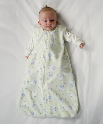 White & Blue Lamb HALO SleepSack