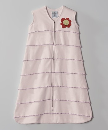 Pink Flower Ruffle HALO SleepSack