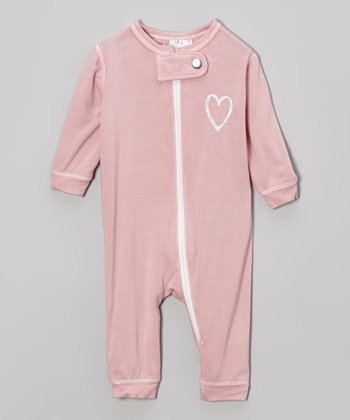 Light Pink Heart Union Organic Playsuit - Infant