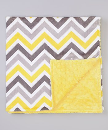 Lemon & Gray Zigzag Stroller Blanket