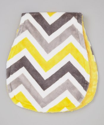 Lemon & Gray Zigzag Burp Cloth