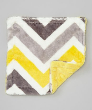 Lemon & Gray Zigzag Crinkle Toy