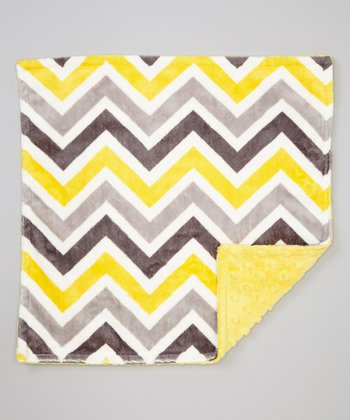 Lemon & Gray Zigzag Security Blanket