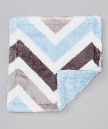 Blue & Gray Zigzag Crinkle Toy