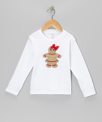 White Gingerbread Girl Tee - Toddler