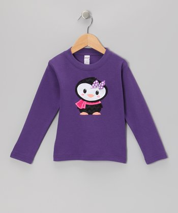 Purple Penguin Tee - Toddler
