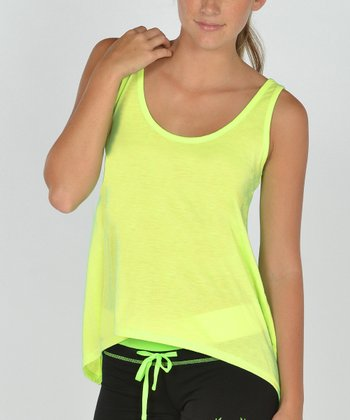 Neon Yellow Shark Bite Sidetail Tank
