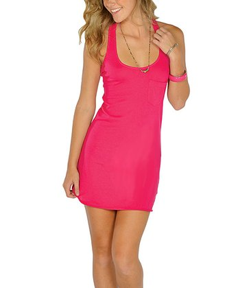 Fuchsia Racerback Tank Dress