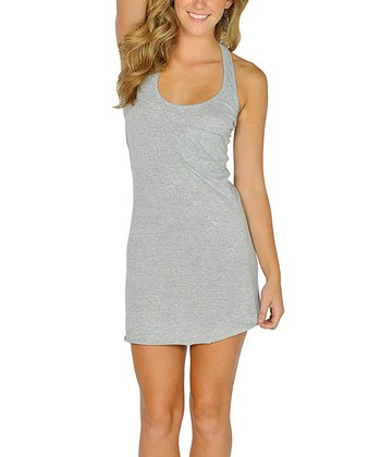 Gray Racerback Tank Dress