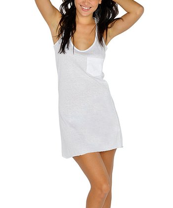 White Racerback Tank Dress