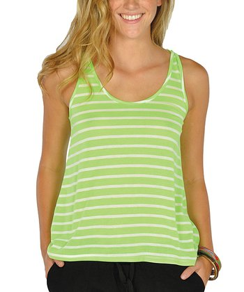 Neon Green Stripe Tank