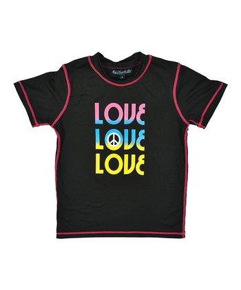 Lagaci Black & Pink 'Love' Rashguard