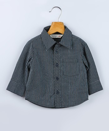 Gray Stripe Shirt - Infant, Toddler & Boys