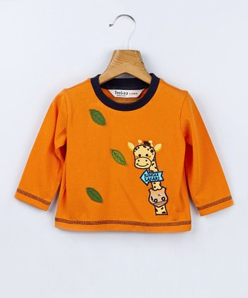 Orange Giraffe Tee - Infant & Toddler