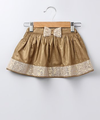 Gold Sequin Bow Skirt - Infant, Toddler & Girls
