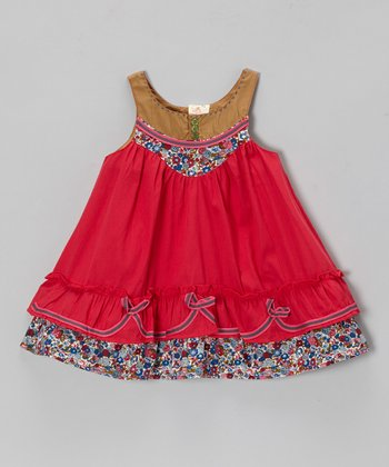 Fuchsia Floral Ribbon Dress - Infant, Toddler & Girls