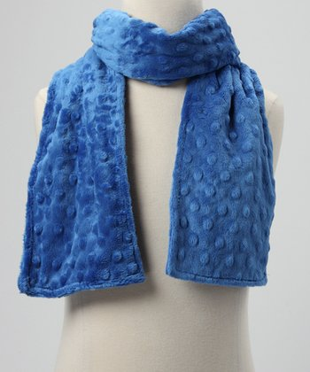 Royal Blue Minky Scarf
