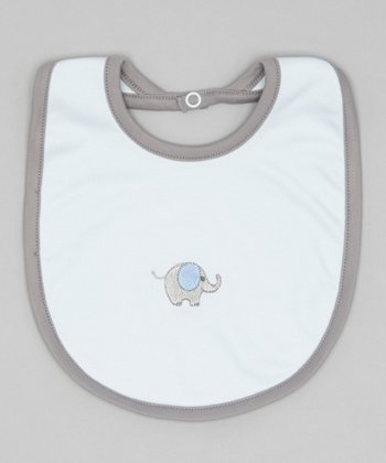 Blue & Gray Elephant Bib
