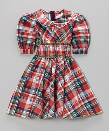 Red Plaid Dress - Toddler & Girls