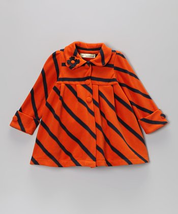 Orange Stripe Coat - Toddler & Girls