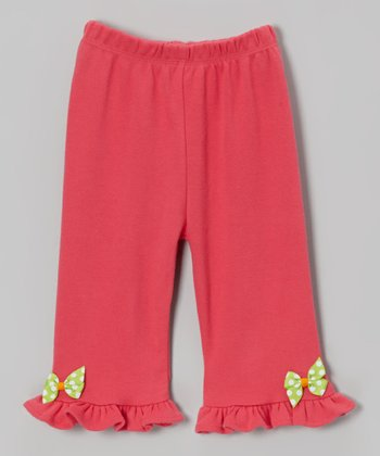 Pink Polka Dot Bow Pants - Infant & Toddler