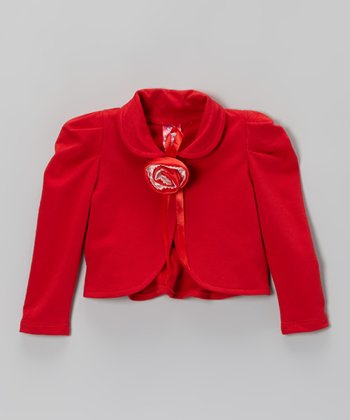 Red Rosette Jacket - Toddler & Girls