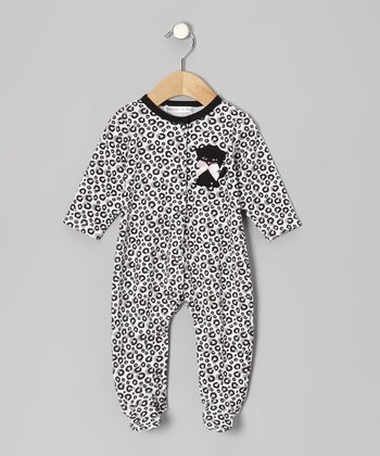 Black Leopard Kitty Footie - Infant