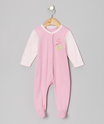Pink 'Little Princess' Footie - Infant