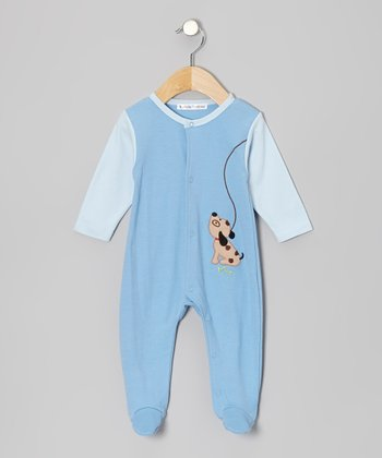 Blue Puppy Footie - Infant