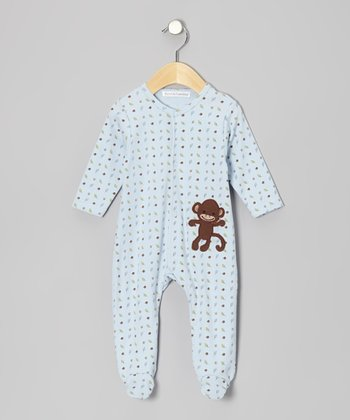Blue Monkey Footie - Infant