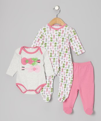 Pink Guitar Footie Set - Infant
