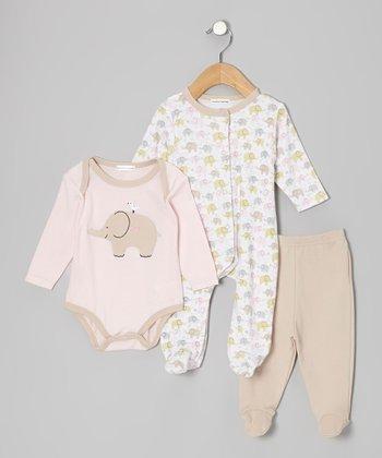Rumble Tumble Pink Elephant Footie Set - Infant