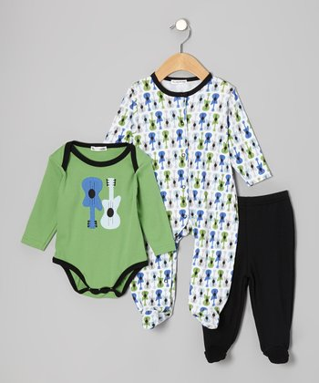 Green Guitar Footie Set - Infant
