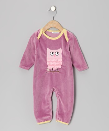 Purple Owl Playsuit - Infant