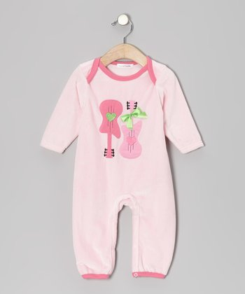 Pink Guitar Playsuit - Infant