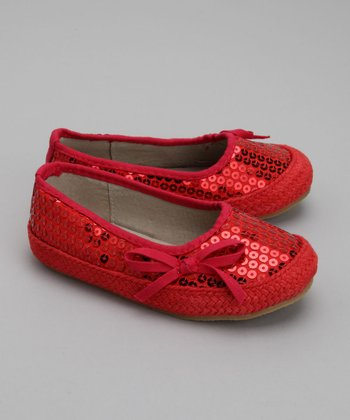 Red Raspberry Sequin Ballet Flat