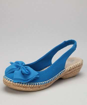 Cobalt Blue Cheerful Espadrille Slingback