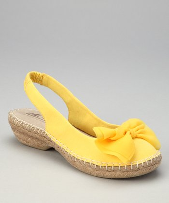 Yellow Cheerful Espadrille Slingback