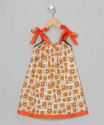 Orange 'Boo' Swing Dress - Infant, Toddler & Girls