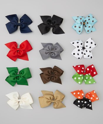 Fall Bow Clip Set