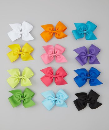 Four Seasons Bow Clip Set