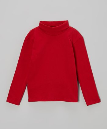 Red Turtleneck - Infant, Toddler & Girls